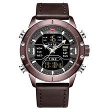 NAVIFORCE часы мужские Топ люксовый бренд кожа водонепроницаемые кварцевые наручные часы военные спортивные мужские часы Дата Relogio Masculino(Китай)