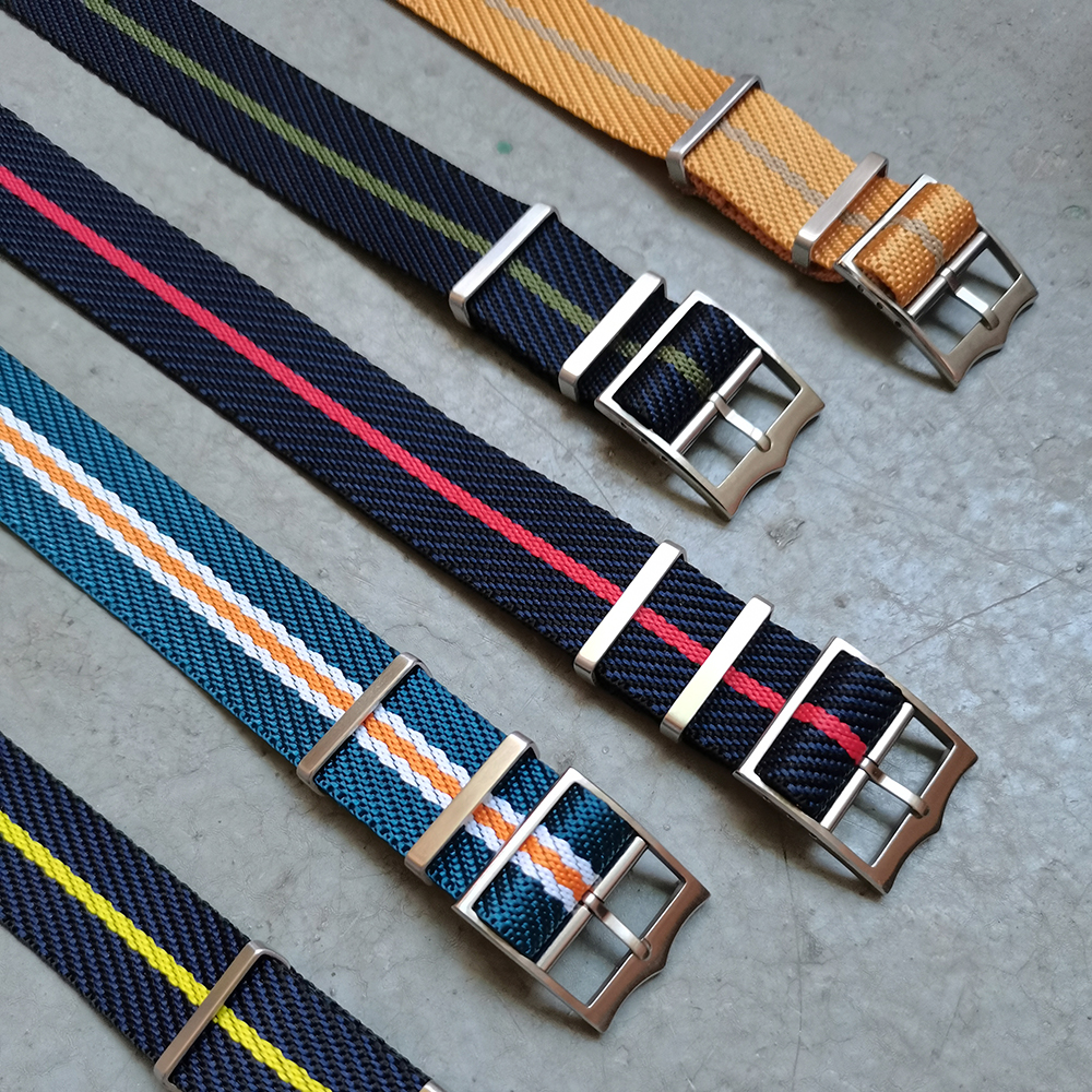 New Material Special Nylon Design Fabric Bracelet Band Single Pass Nato Watch Straps 20mm 22mm Adjustable Nylon Strap