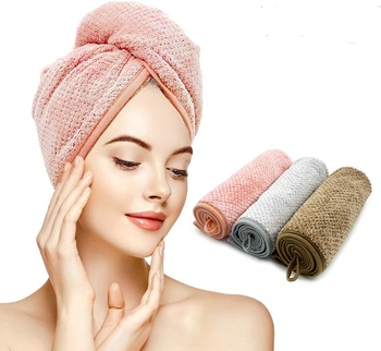 Hair Drying Microfiber micro fiber velvet extra long Bath Hair Towel Wrap Dry Hair Hat Cap dryer turban