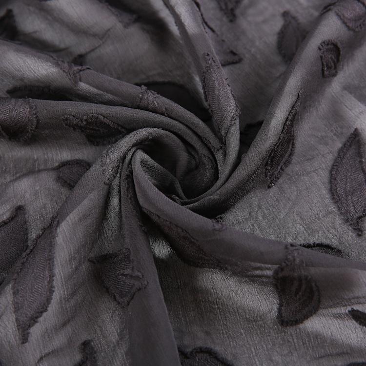 New Design Beautiful chiffon leaf pattern design color fabric hot