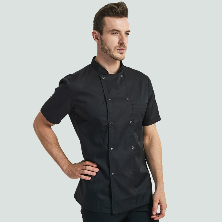 Thick white red chef uniform long sleeve hotel restaurant coffee cake shop chef's work uniform in autumn and winter
