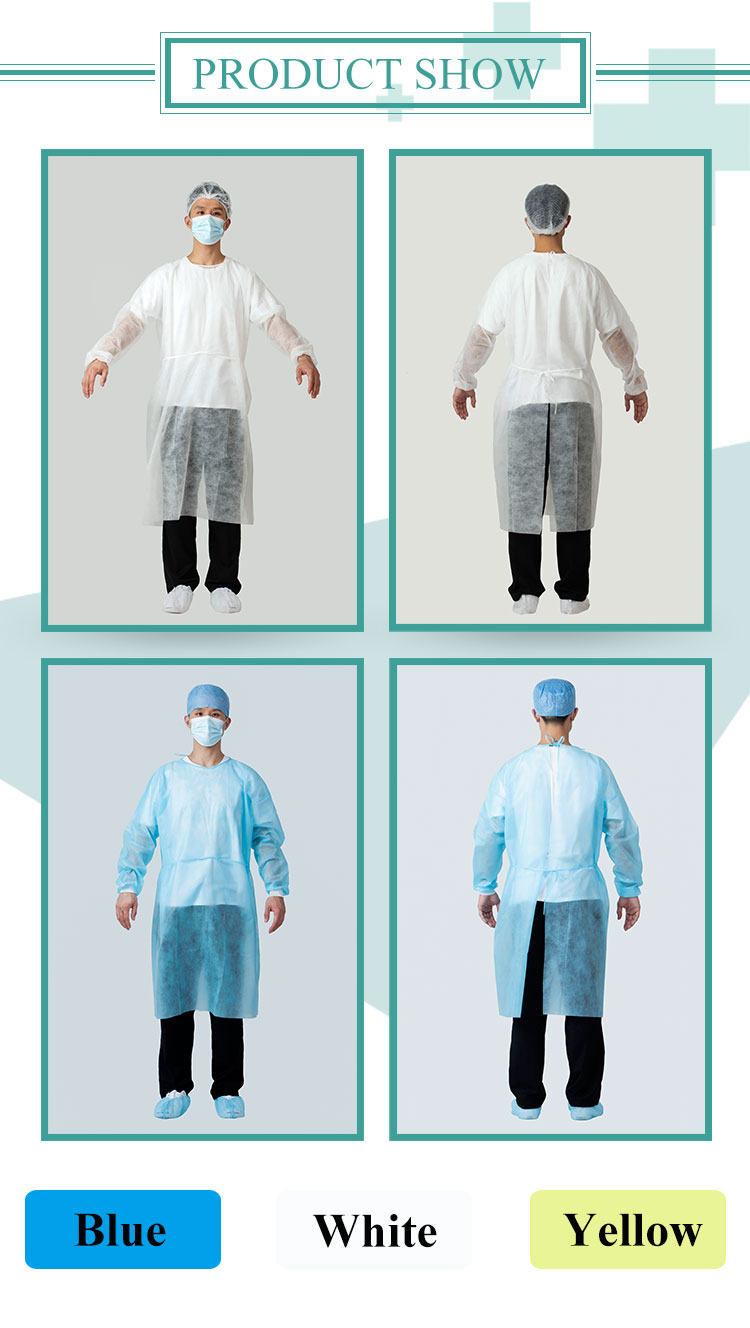 New Products Rhycom Heat Sealing Reinforced Surgical Gowns Sterile Reinforced Level 4