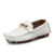 2021 latest ladies flat shoes comfort women white leather loafers wholesale lady casual driving shoes