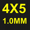 4x5 1.0mm thickness