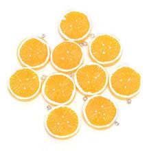 10 шт. DIY милые плоские Подвески из смолы с лимоном для украшения фруктов, серьги, брелок, чехол для телефона, аксессуар(Китай)