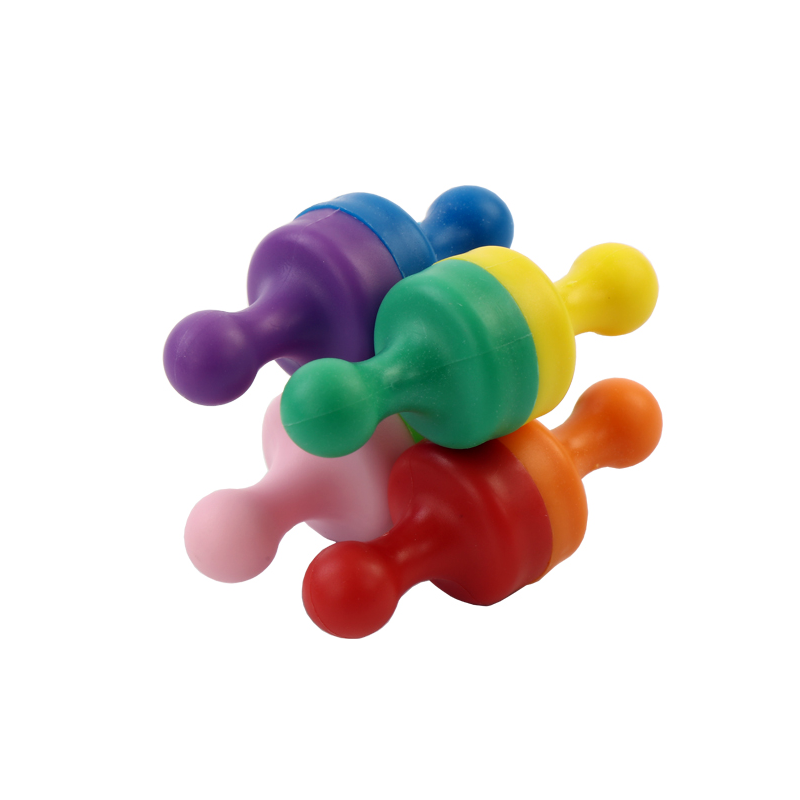 OEM ODM Customzied Rubber Coating Pin Magnet Plastic Magnet Push in For Whiteboard Office Maps