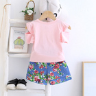 Designer Design Baby Clothes Designer Design Summer Girl Letter Print Short Sleeve Print Shorts Suit Baby Clothes High Quality 95% Cotton Children's Clothing