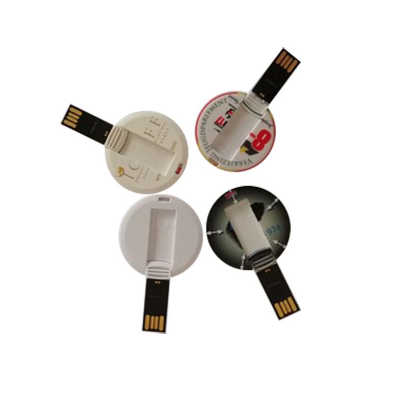 Custom and Cheap Price Round Card USB2.0 4GB/8GB/16GB/32GB/64GB USB Flash Drive - USBSKY | USBSKY.NET