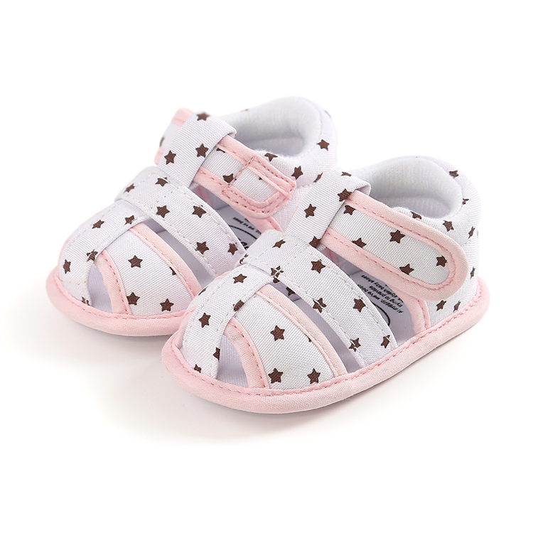 Fast delivery Star print hole beach sandals for 12-18Months baby summer