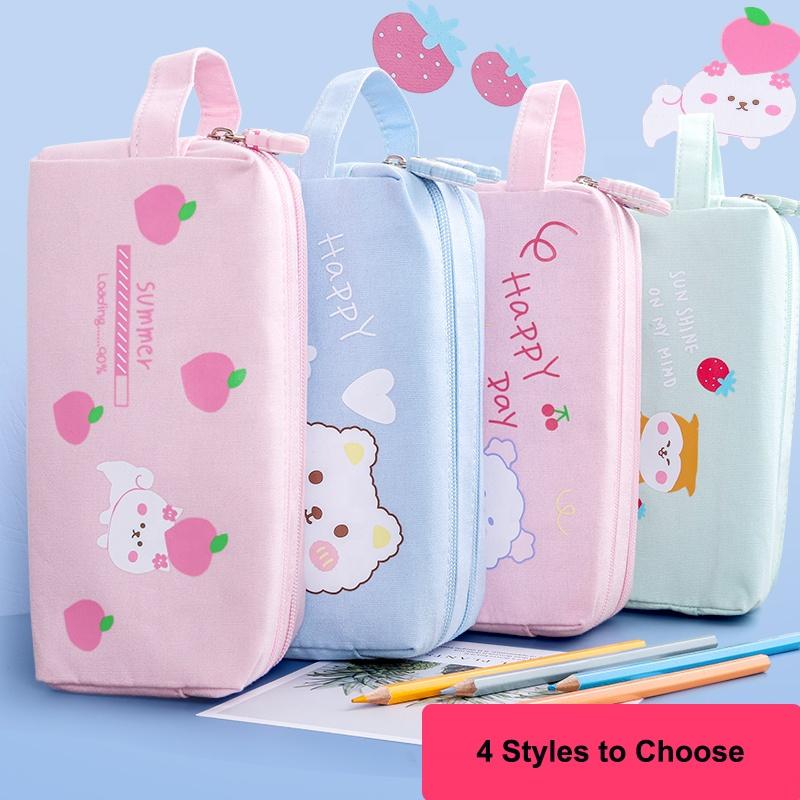 Portable Cartoon Pencil Case Hot Sale Children Kawaii Pencil Bag for Students