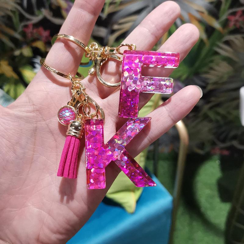 Resin Keychain Letter Keychain