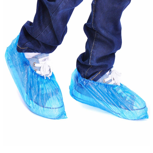 Disposable water proof shoe cover medical cpe ppe shoe cover for polypropylene