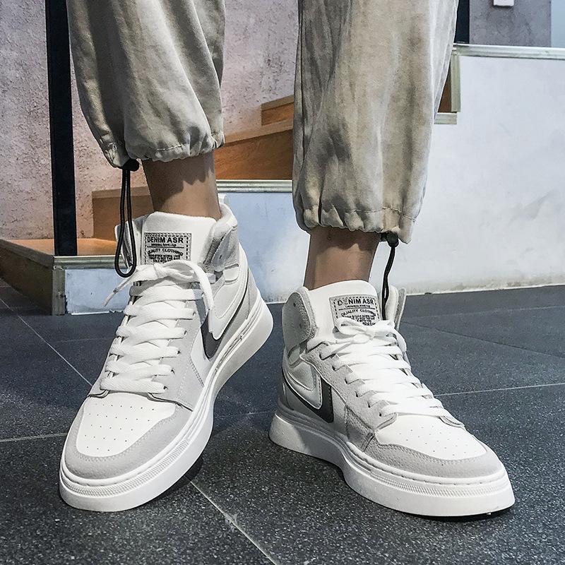 Стильные мужские кроссовки из ПУ кожи, дышащая мужская обувь для прогулок