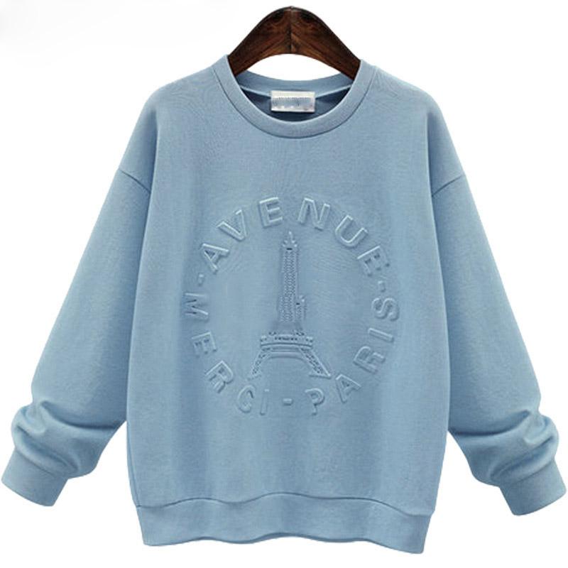 Wholesale custom embossed sweatshirt casual streetwear high quality women hoodie