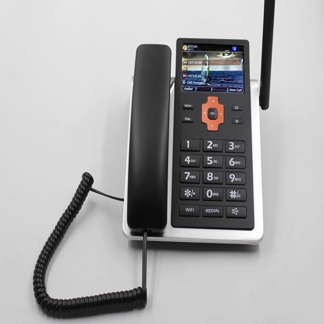 4g lte desktop fixed phone wireless telephone with WIFI hotspot and sim card