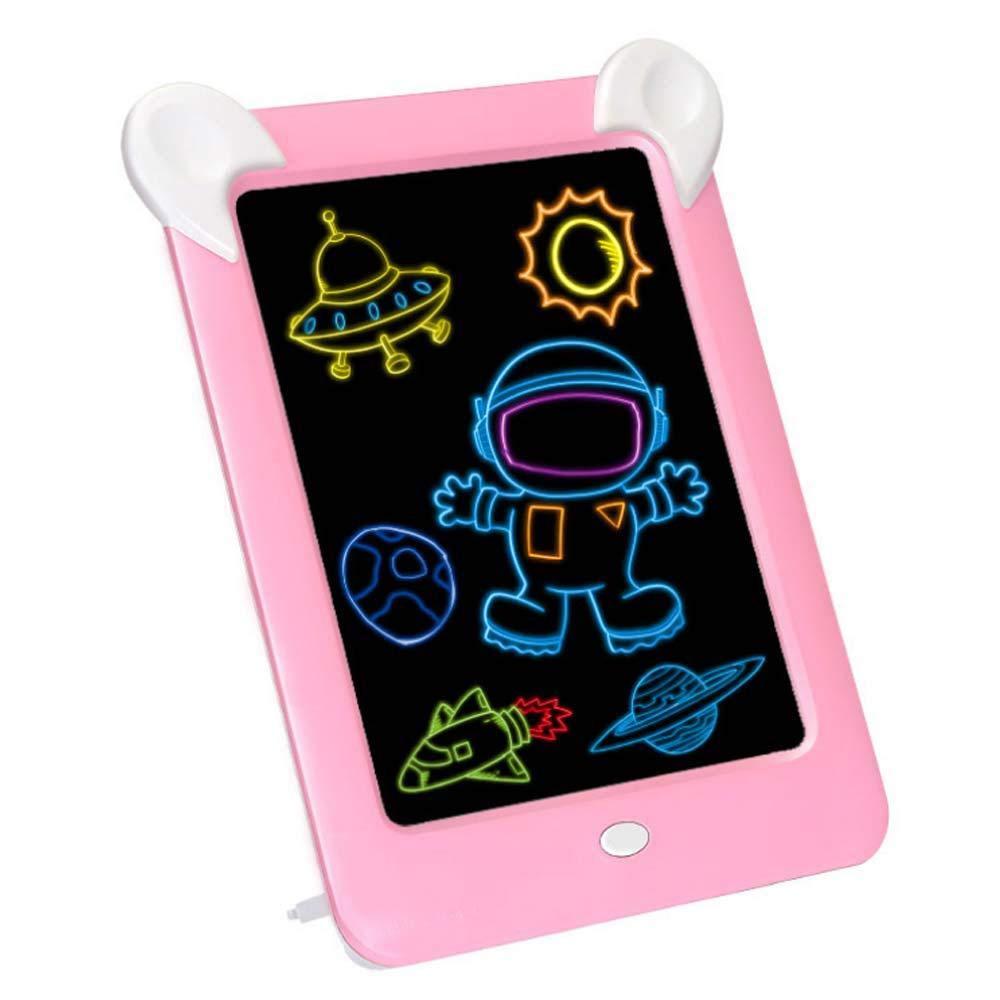 kids led magic light drawing board kids educational electronic writing glow pad