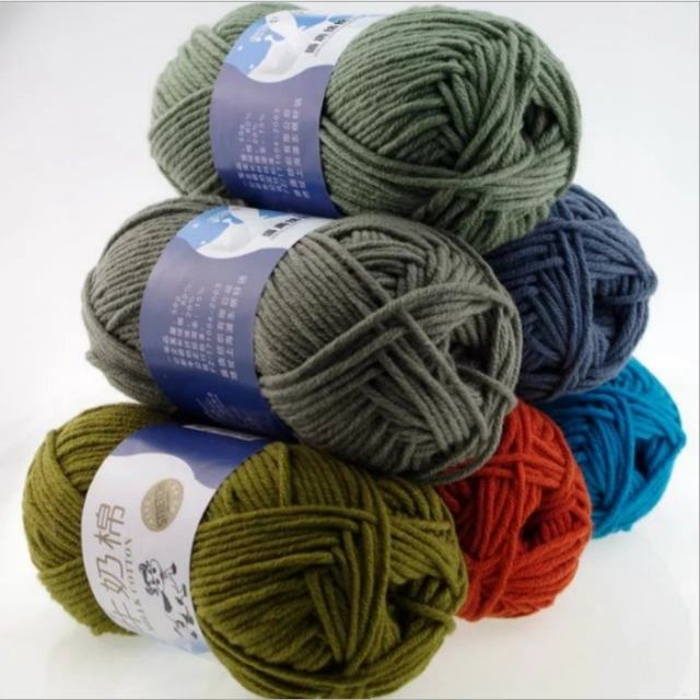 Factory direct supplier milk cotton yarn organic milk cotton yarn 50g milk cotton yarn 16s