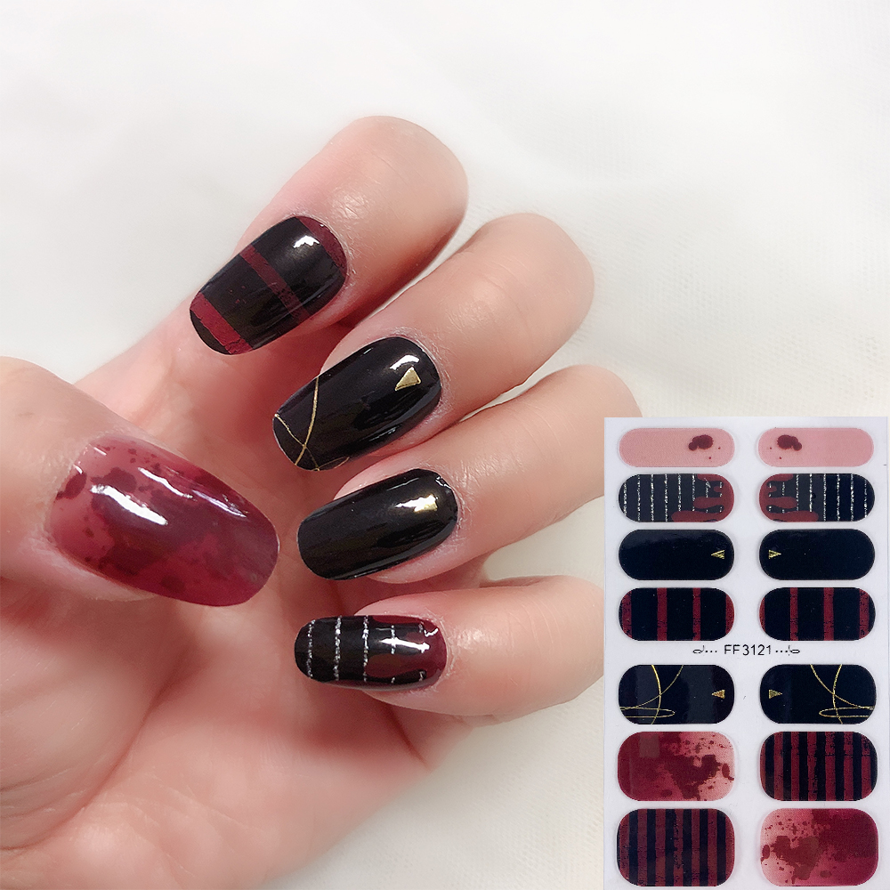 Party Show designs Nail Jel Wraps 14 fingers Guangzhou GMPC factory Nail Art Sticker