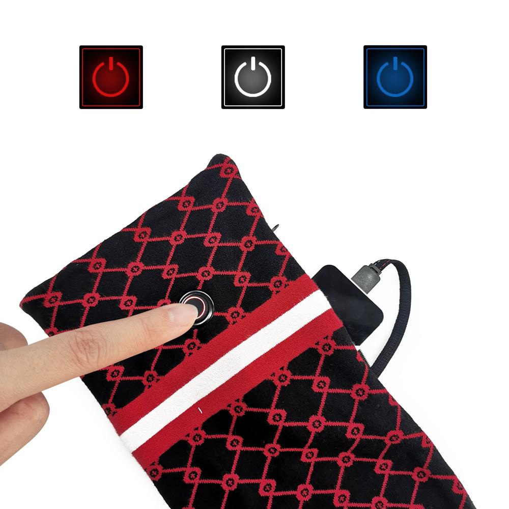 Модный дизайн, стильные вязаные шарфы контрастных цветов на заказ, рождественский подарок, снятие боли в шее, зимний теплый шарф с подогревом