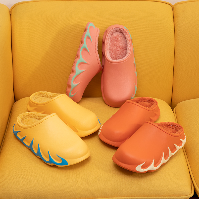 Fashion Five Colors Pu Flaming Mountain Winter Garden Shoes For Male And Female