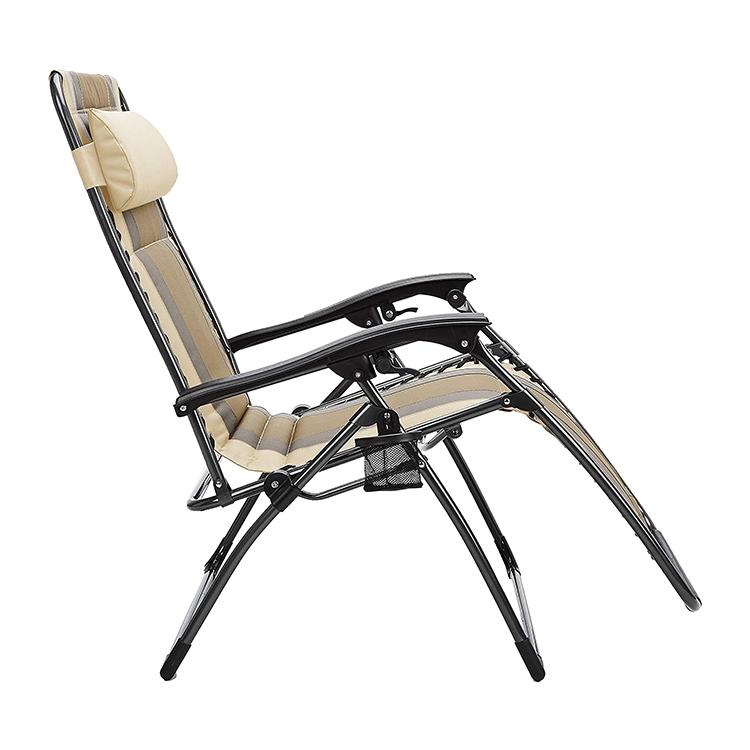 HOMFUL Foldable Garden Padded Zero Gravity Patio Chair Portable Zero Gravity Chair Recliner