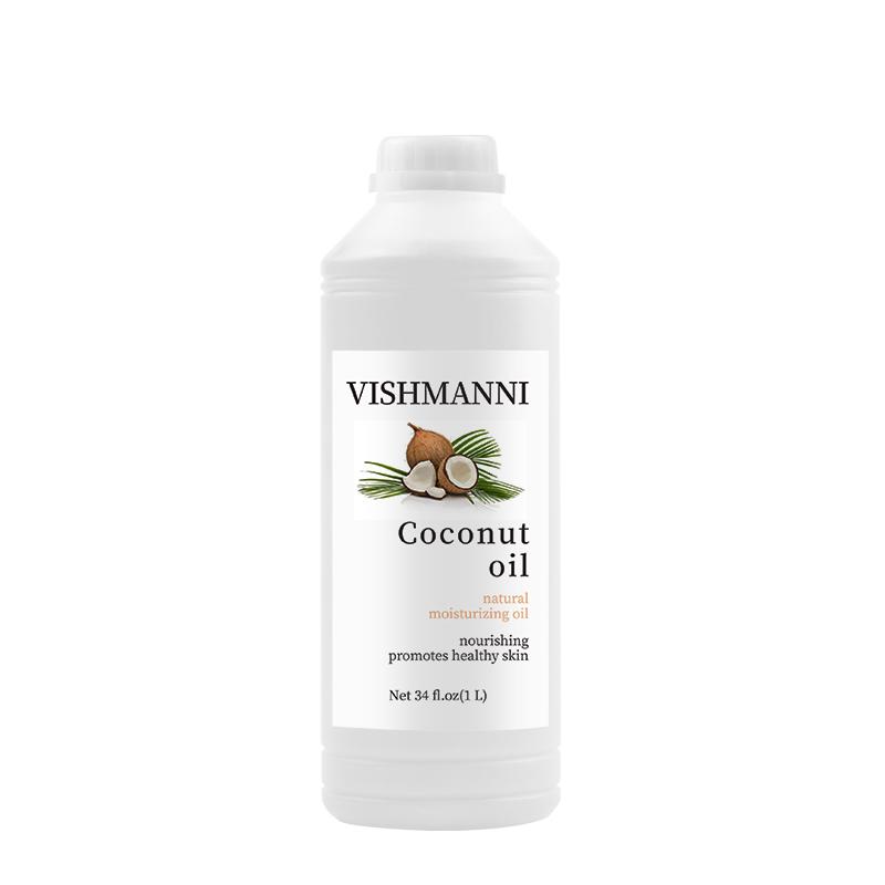 Высококачественное масло, 100% чистое холодное прессование, бесцветное кокосовое масло для увлажнения кожи