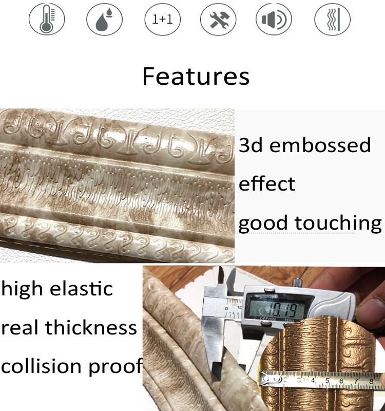 3D обои для домашнего украшения самоклеющиеся 3d обои в рулонах для стены изысканный границы