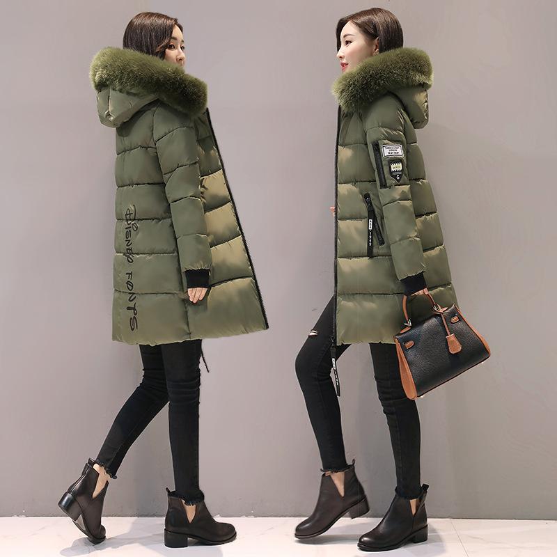 Женская теплая одежда с капюшоном и хлопковой подкладкой, женские облегающие длинные зимние пуховики, женские пальто