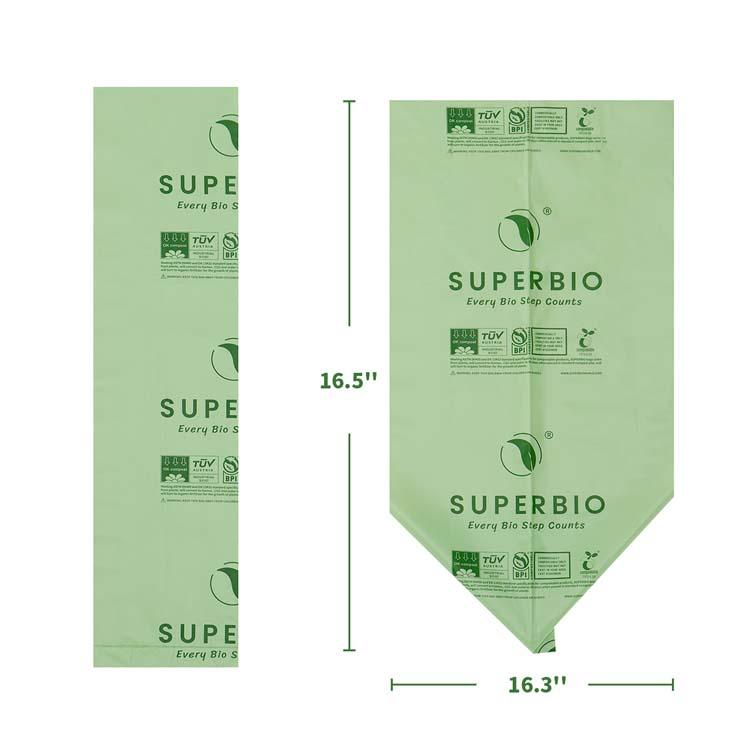 Премиум мешки для пищевых отходов, 100% сертифицированные мешки для компоста биоразлагаемые мешки для мусора из кукурузного крахмала