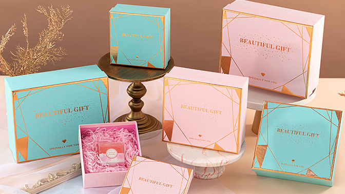 Factory direct supply fashion attractive design custom print gift boxes cardboard for beauty