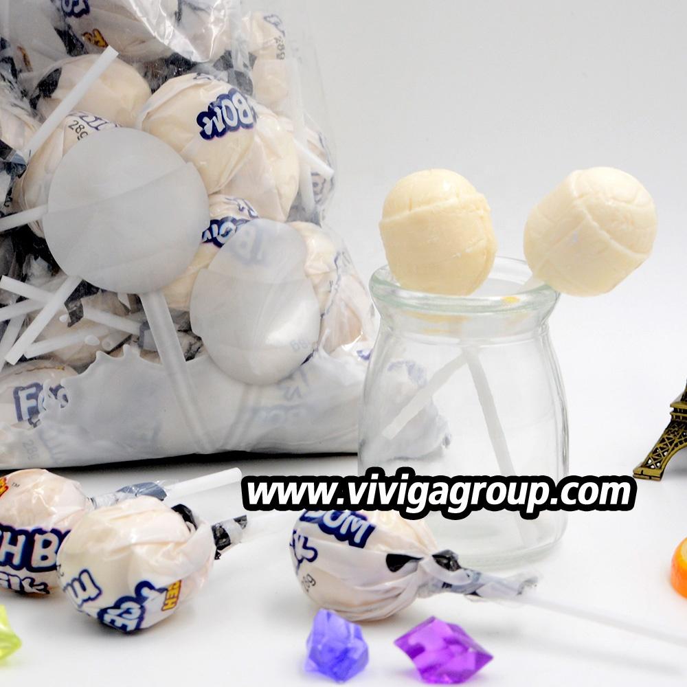 Halal sweet hard milk lollipop factory direct