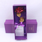 Gift Ideas Mother's Day Gift Ideas Single Gold-plated Rose 24-karat Gold Foil Rose Valentine Gift Box