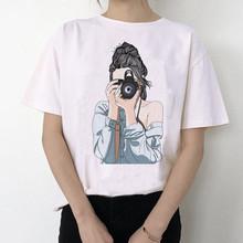 Gracias U 90s, хип-хоп, манга, мягкая, эстетичная, аниме одежда, летняя, для женщин, хиппи, Белый Топ, летняя уличная одежда(China)