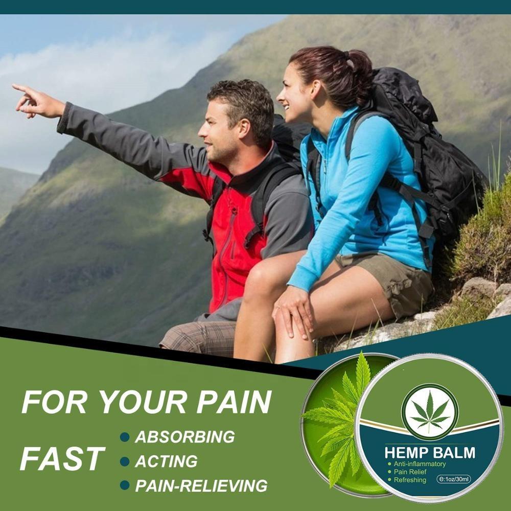 Собственная марка, конопляное масло для снятия боли в мышцах, Конопляный бальзам