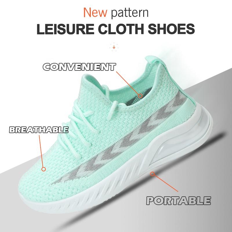 Заводская цена, новинка, модная детская повседневная спортивная обувь для мальчиков и девочек, вязаные кроссовки