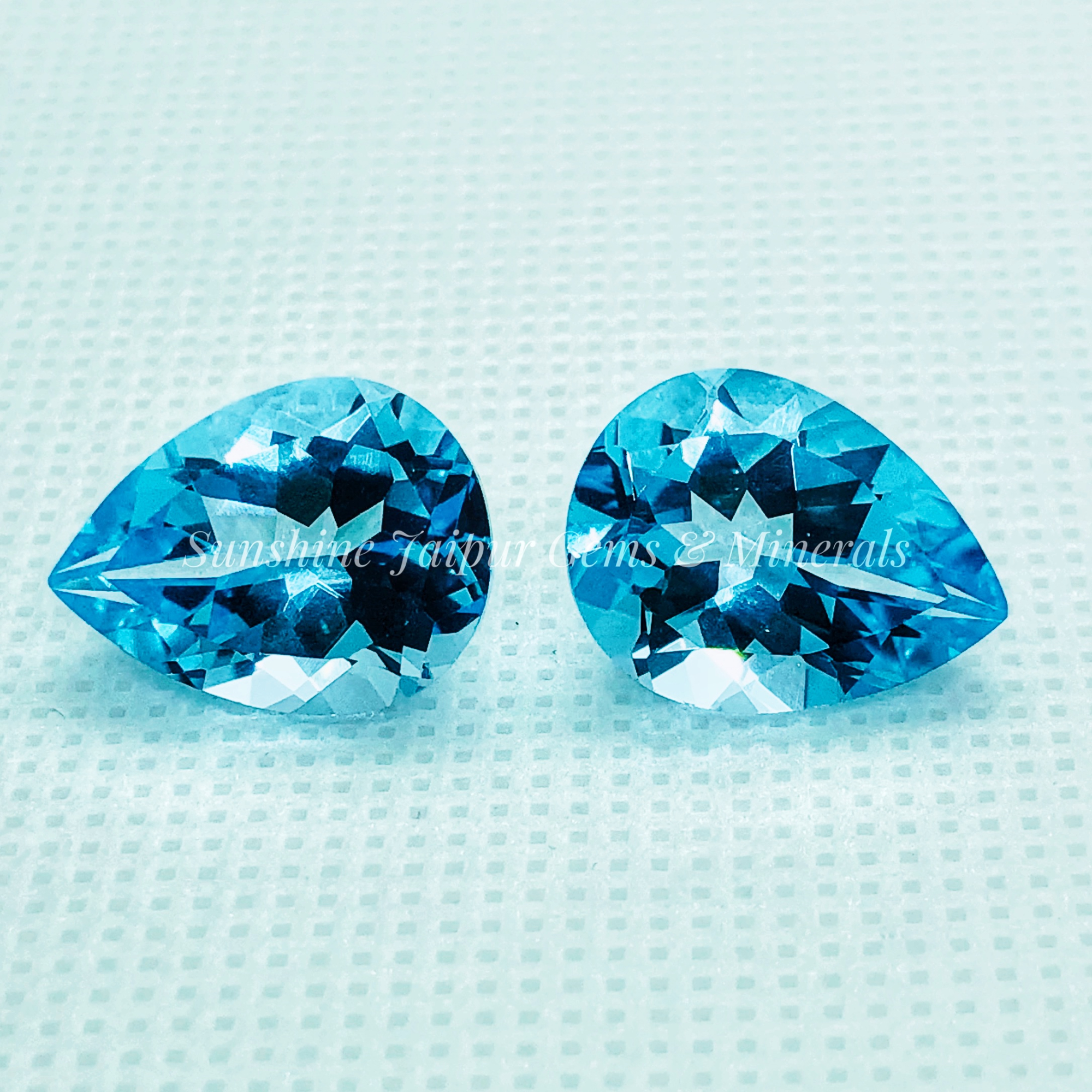 Sky Blue Topaz Natural Loose Gemstone Pear 7x10mm Cabochon AAA Quality