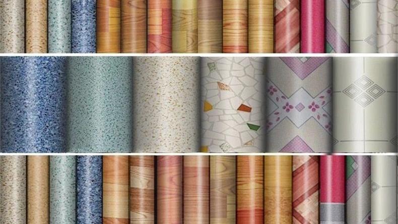 Новая декоративная пленка из ПВХ с текстурой деревянного ковра и камня для пластиковой поверхности пола