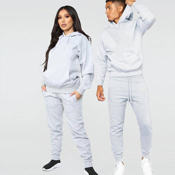 Casual Training & Jogging Wear Men Jogger Outfits Tracksuits Sweatsuit Unisex Sportswear Women 2 Pieces Hooded Sets