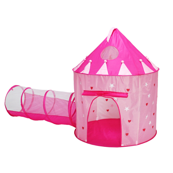 YF-W1201L Christmas hot sale outdoor indoor princess castle noctilucou stars 2 in 1 kids play pop up tunnel tent