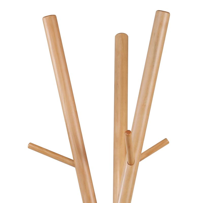 Modern design home hanger metal base wood stand clothes coat hook rack