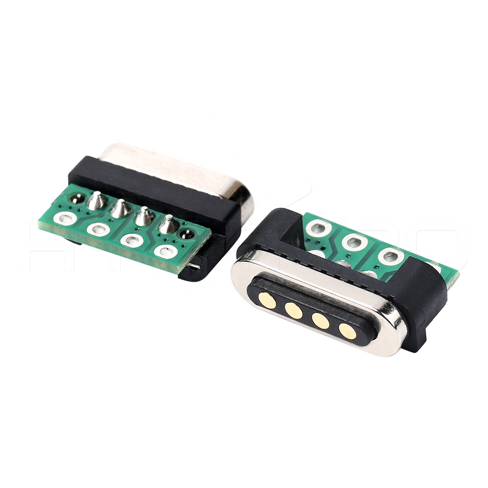 Breakaway male female 4pins pogo powering magnetic electrical connectors for wearables