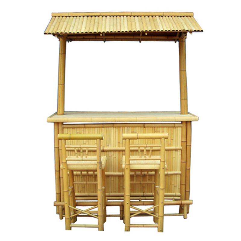 Hot summer product bamboo bar for beach or home garden bamboo tiki bar