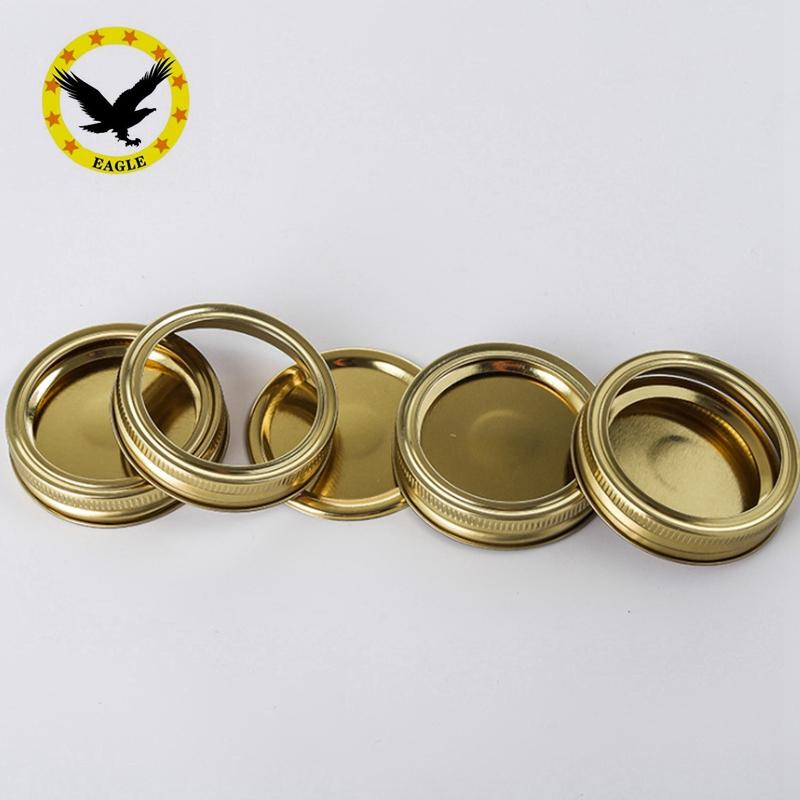 Под заказ, серебристый/Золотой/черный цвет, 70 мм, отдельная каменная банка, крышка, металлическая консервная банка, винтовая крышка, 2 шт., плоские кольца и пластины