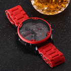 Red DZ Series Men's Watch Brazil Europe And America Bright Red Table Large Dial Hot Sales Men Quartz Watch 7370