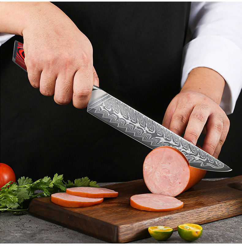 Professional Handemade Japanese Kitchen Knife Set 6 PCS Damascus Steel Chef knife Set
