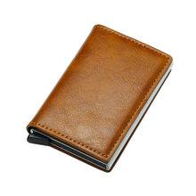 Черный металлический кошелек с защитой от радиочастотной идентификации, держатель для кредитных карт для мужчин и женщин, держатель для ви...(Китай)