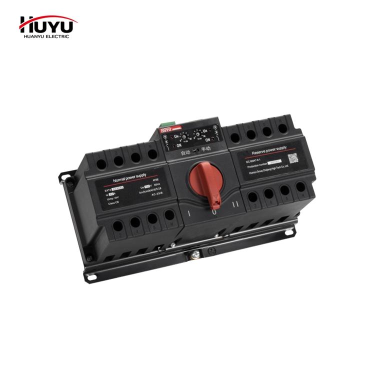 Автоматический/ручной двойной переключатель мощности HUYU 2P 3P 4P 63a