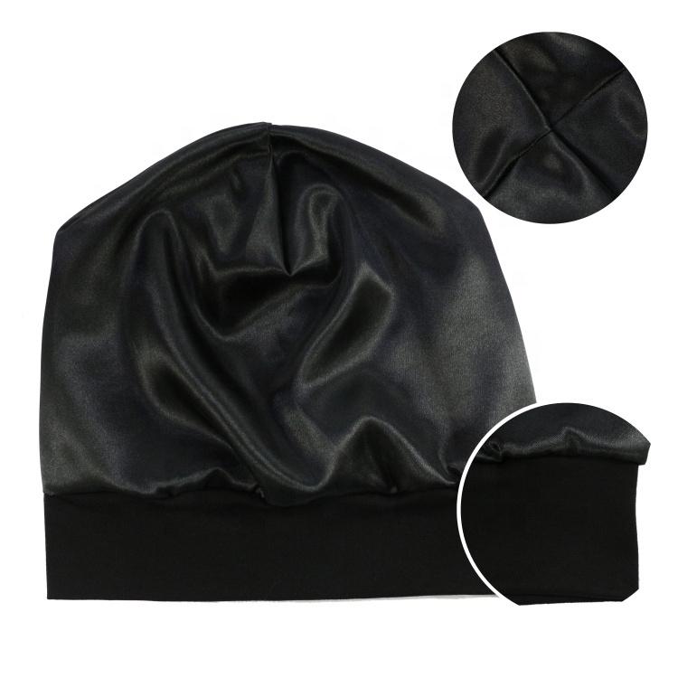 Satin Lined Sleep Slouchy Cap Curly Girl Slap Beanie Headwear Gifts for Frizzy Hair Women