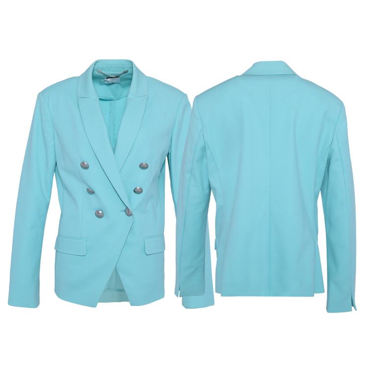 Huiquan lcontemporary Новое поступление женский пиковый пиджак с отворотом повседневный костюм с функциональным рукавом vent дизайн