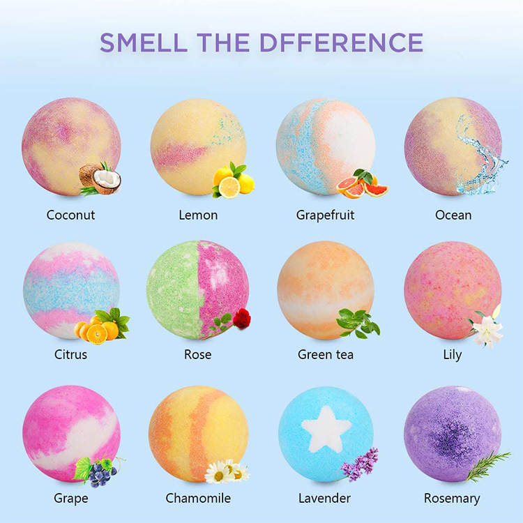 Hot Selling Luxury Gift Set Custom Private Label Handmade Colorant Press Bubble Natural Fizzy Organic Bath Bomb